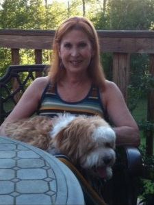 Me with Barnaby, my Tibetan Terrier