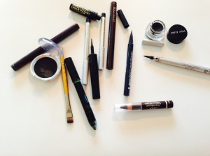 Some of my many eyeliners