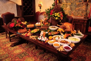 The groaning Thanksgiving table