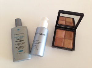 Protection, shadow, blush and bronzer
