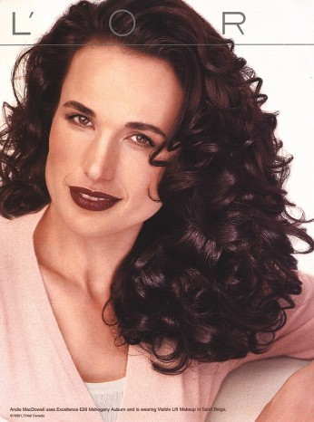 The long running Andie MacDowell