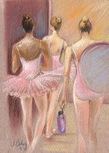 """Dance Done"" pastel ©Johanna Bohoy, LightCaught.com"
