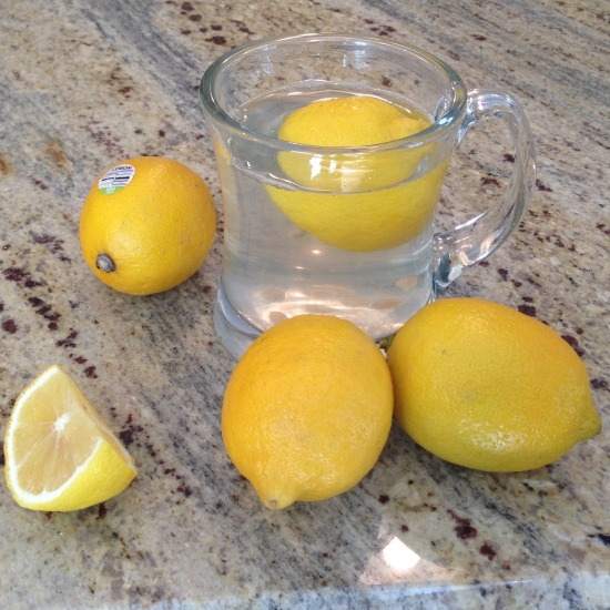 Starting the day with lemon water